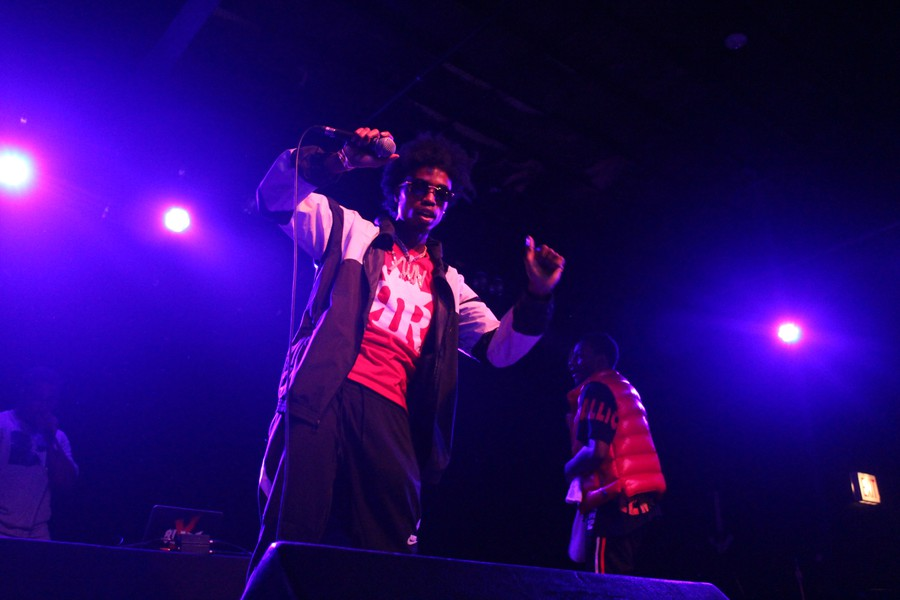 DaBoii and Slimmy B of SOB X RBE at Bottom Lounge last Wednesday.
