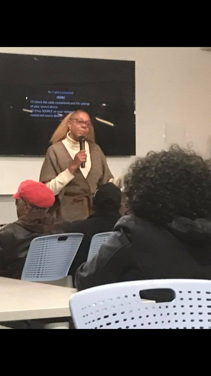 Hairston talked Treasure Island and a new city services system at her last ward meeting of the year.