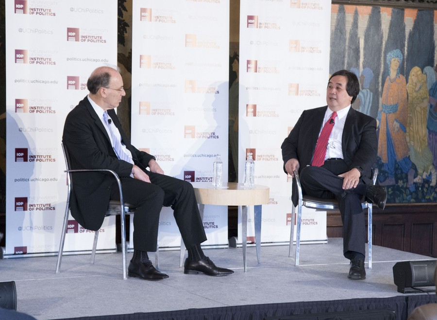 Harold Hongju Koh, former Yale Law School dean and former legal adviser to the State Department, sits down with Law School professor David Strauss.