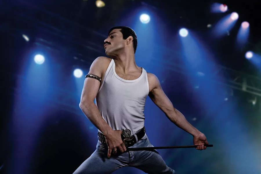 "Rami Malek plays the role of iconic frontman Freddie Mercury in ""Bohemian Rhapsody""."