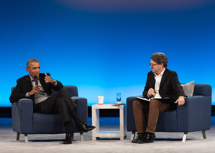 Obama and Eggers close out the summit.