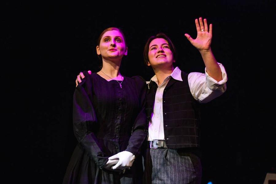 "Claudio's sister Isabella (Sabrina Sternberg) and Claudio's friend Lucio (Franziska Harling) in ""Measure for Measure"""