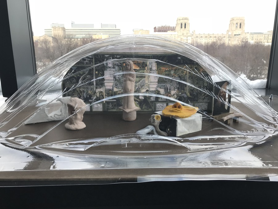 The plastic molds made for the portable museums were modeled after the Joe and Rika Mansueto Library.