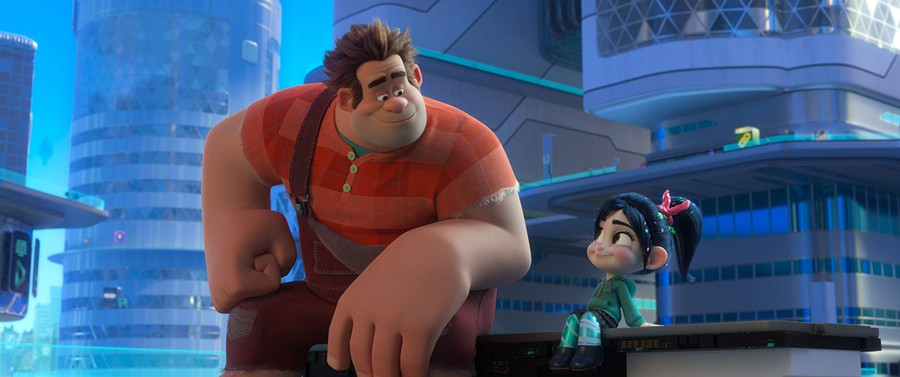 The movie was saturated with bright colors, Disney-themed Easter eggs, and references to modern Internet culture.