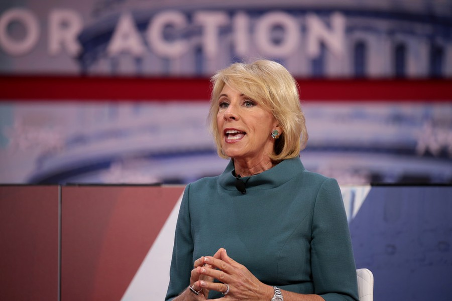 Secretary of Education Betsy DeVos is awaiting public comment on updated guidelines surrounding universities' handling of sexual assault.