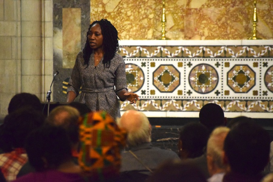 Amara Enyia expressed strong support for a CBA at the forum.