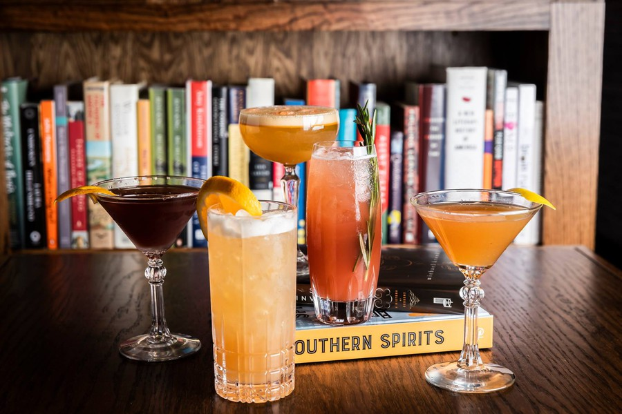 In addition to selling books, Bibliophile serves alcohol-infused desserts and drinks.