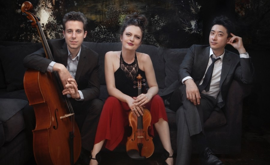 (left to right) Ross Gasworth, Iryna Krechkovsky, and Kevin Kwan Loucks of Trio Céleste.