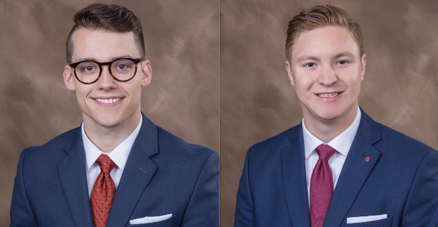 Pi Kappa Alpha consultants Kyle Pane (left) and Daniel Maloney (right).