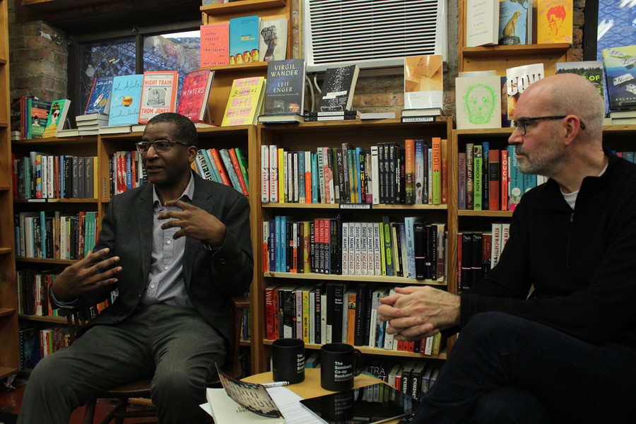 """""""57th Street Booksand the Seminary Co-OpinChicago's Hyde Park neighborhood are two of my favorite bookstores in the world"""" writes Lohier on his blog."""