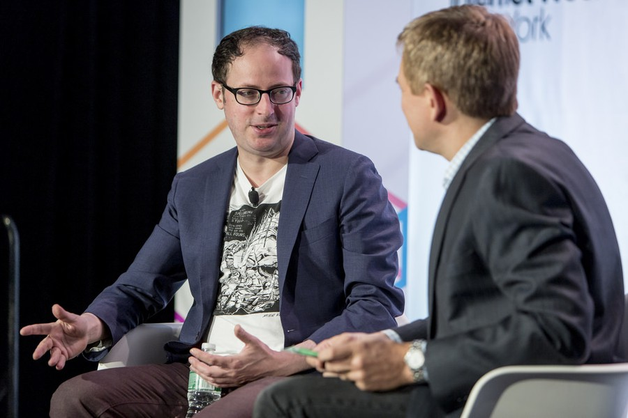 Nate Silver in Conversation with NY1's Pat Kiernan during Internet Week New York in 2015.