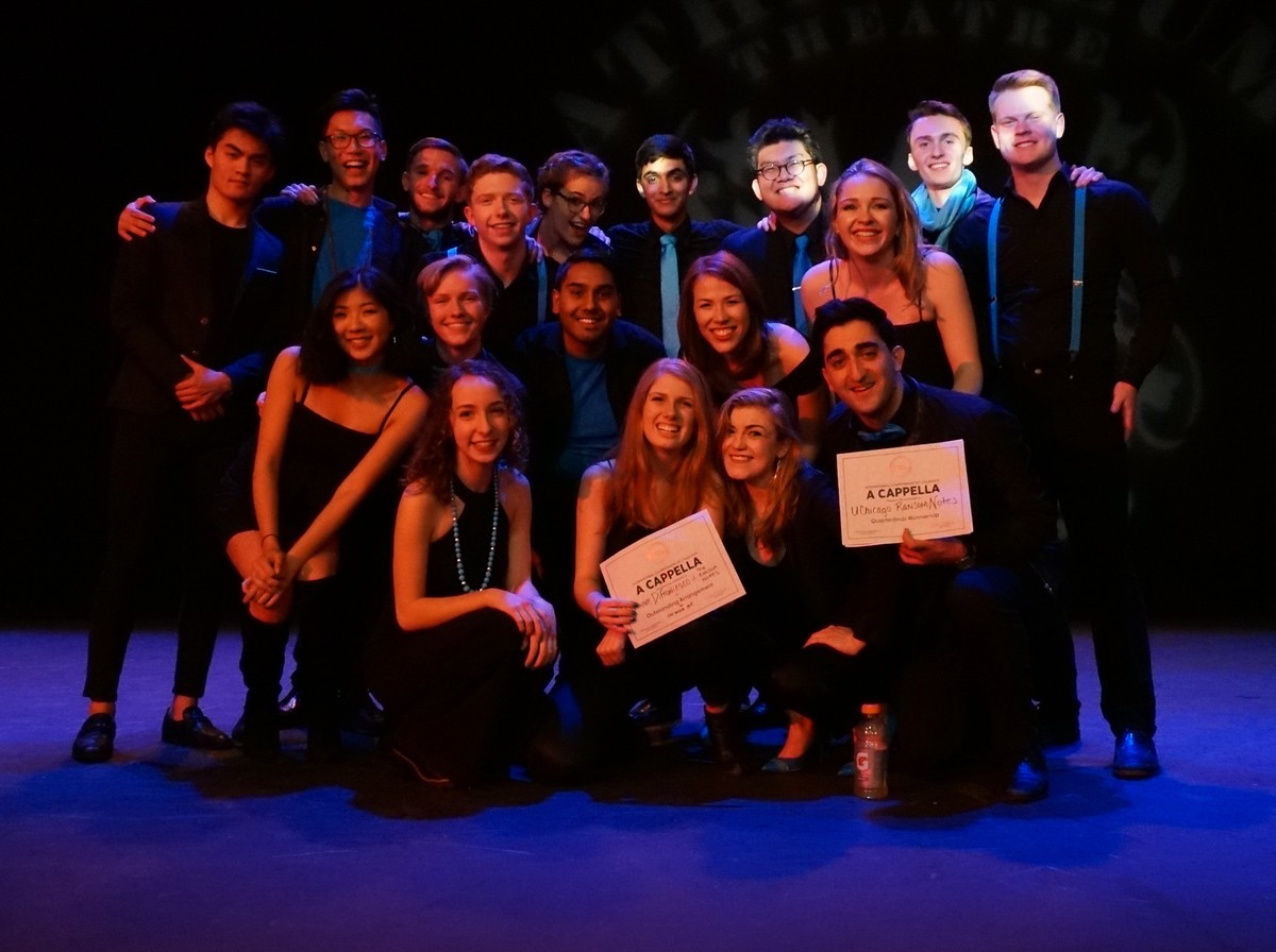 The Ransom Notes place second at the ICCA Great Lakes Quarterfinals, January 2019.