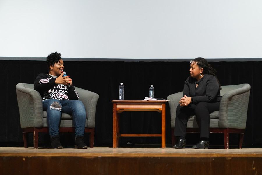 The discussion featured BLM activist Patrice Cullors and Professor Cathy Cohen.