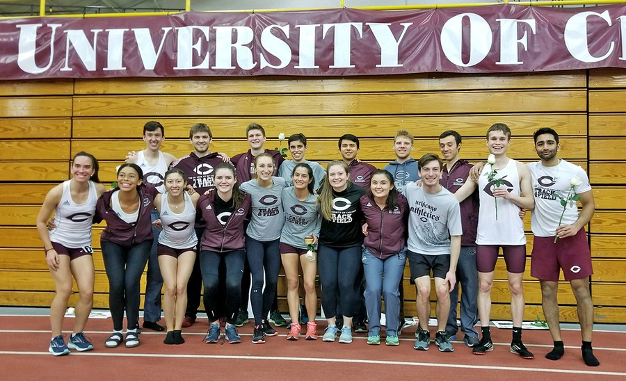 The track and field seniors celebrate the end of their last season.