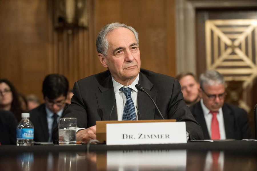 Zimmer testified before the Senate in 2017 opposing federal intervention in campus free speech.