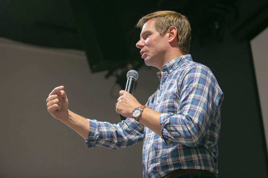Rep. Eric Swalwell (D-CA) speaks to constituents.