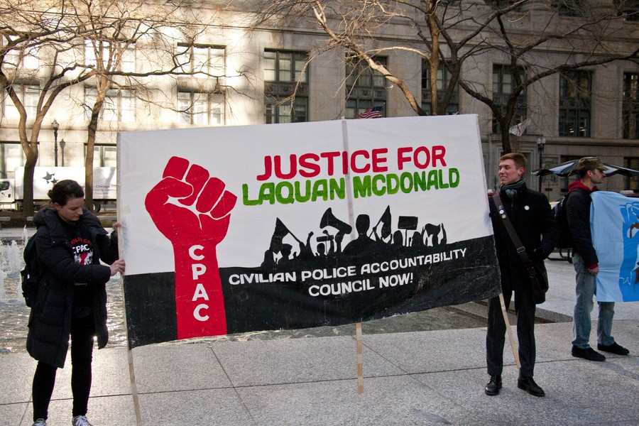 #NoCopAcademy activists held a protest on the 50th anniversary of the assassination of Dr. Martin Luther King Jr.