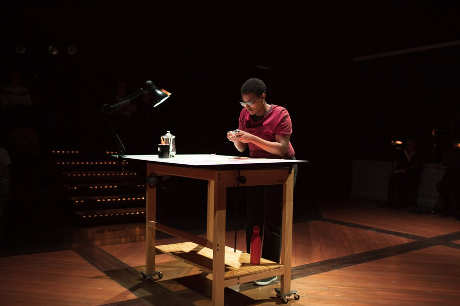 Fourth-year Ri Desta plays the role of cartoonist and graphic novelist Alison Bechdel.