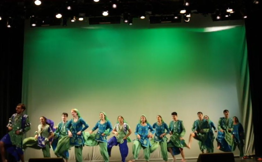 The audience's cheers filled Mandel hall as UChicago Bhangra took the stage.