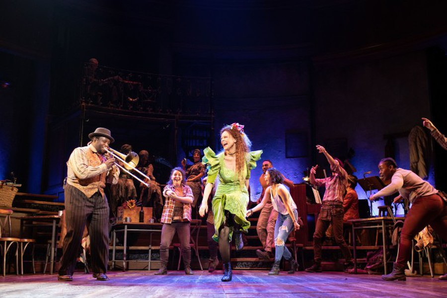 """Nathaniel Cross and Amber Gray in """"Hadestown,"""" which recently opened on Broadway."""