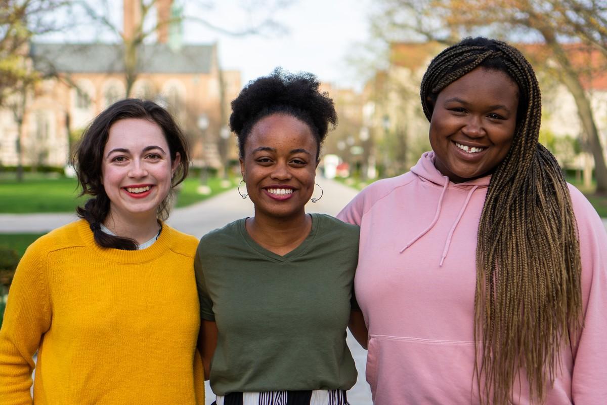CARE Executive Slate candidates Brittney Dorton, Jahne Brown, and Kosi Achife.
