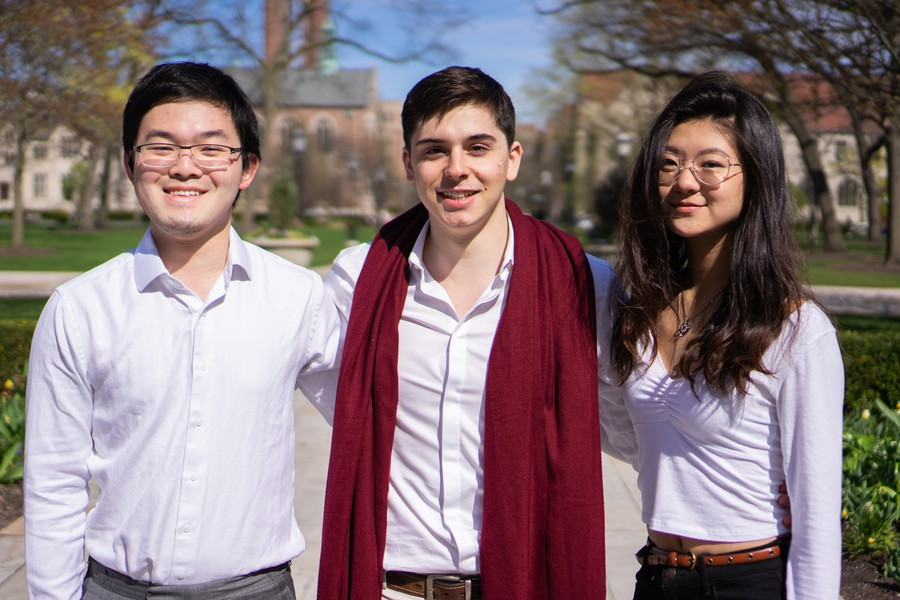 Reformed Slate candidates David Liang, Kyle Shishkin, and Anya Wang.