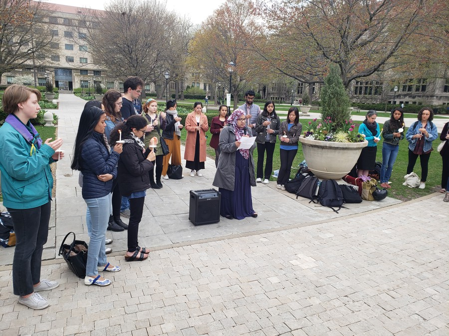 The UChicago South Asian Students Association held a vigil on Thursday afternoon on the main quad in memory of the over 350 killed in Sri Lanka on Easter Sunday less than a week beforehand.