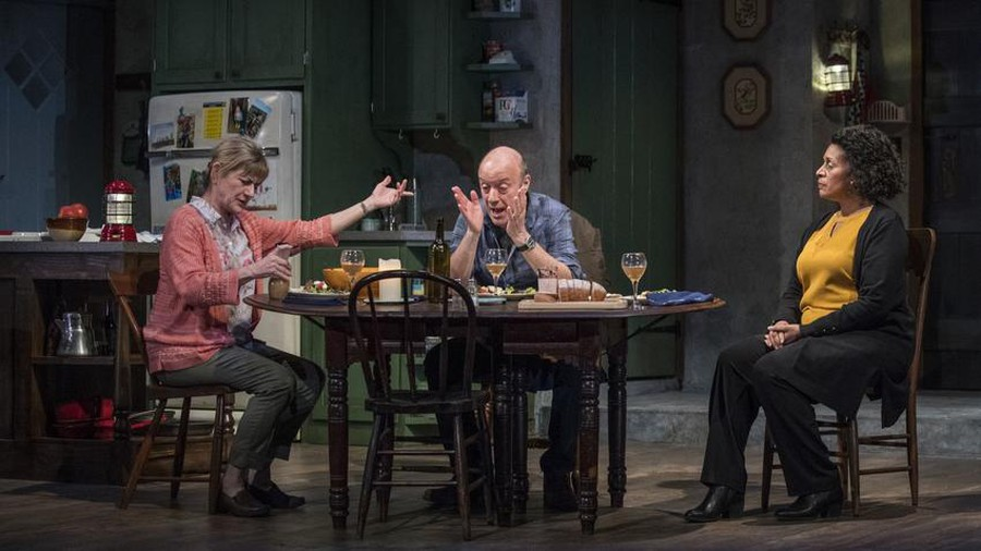 """Janet Ulrich Brooks, Yasen Peyankov, and Ora Jones discuss nuclear catastrophe and personal jealousy in the """"The Children."""""""