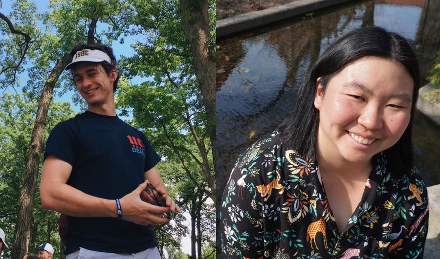 Ridgley Knapp (left) and Natalie Wang (right)