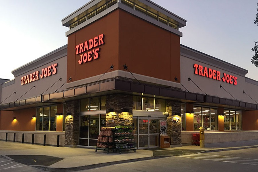 The storefront of a Trader Joe's store.