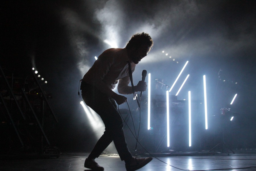 Passion Pit frontman Michael Angelakos dazzles at the Riviera Theater, but to little avail.
