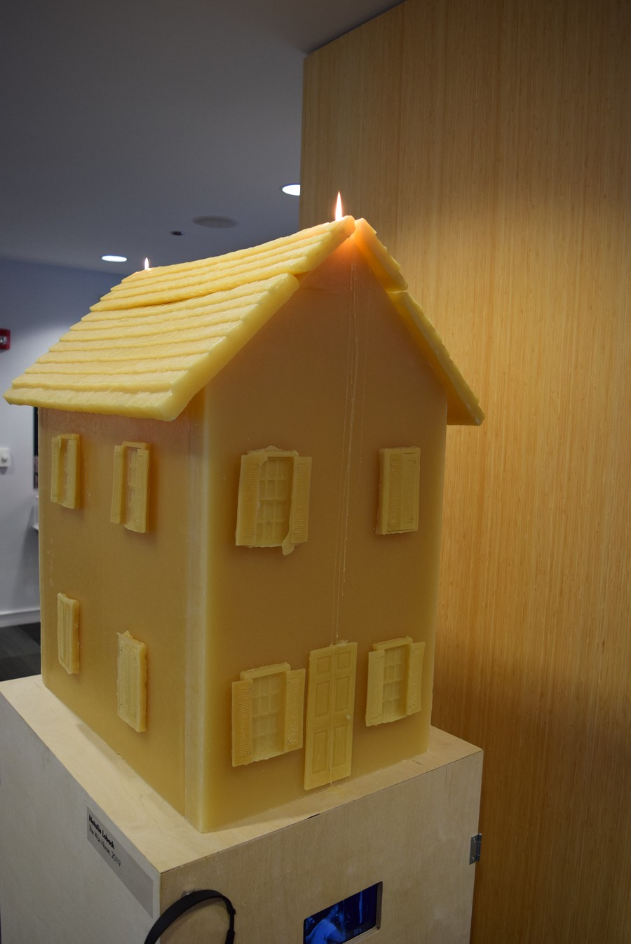 """Natalie Lobach, an undergraduate at the School of the Art Institute of Chicago, created """"The Wax House."""""""