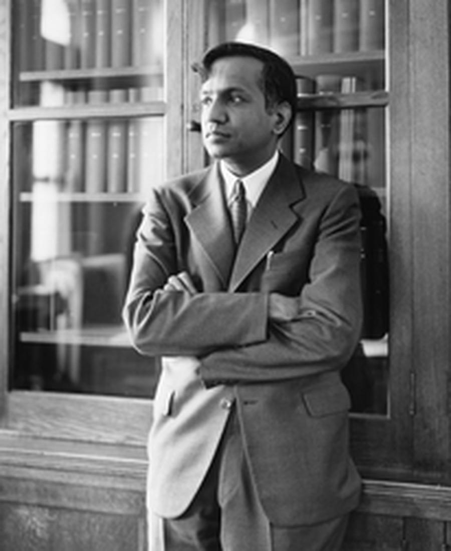 Astrophysicist Subrahmanyan Chandrasekhar. Photo courtesy of the University of Chicago Photographic Archive.