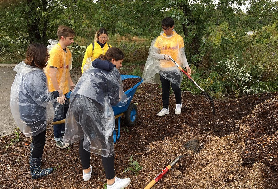Incoming students take part in a day of service during O-Week.
