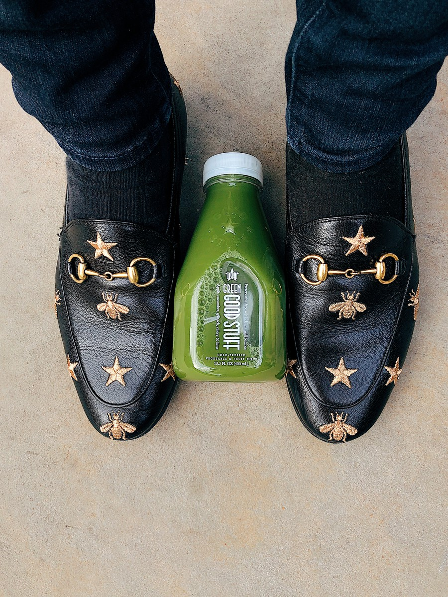 The Pret A Manger Green Good Stuff juice, despite its uneven balance between fruits and vegetables, is a convenient grab when in a rush.