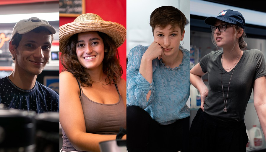Four employees that work in cafes across campus.