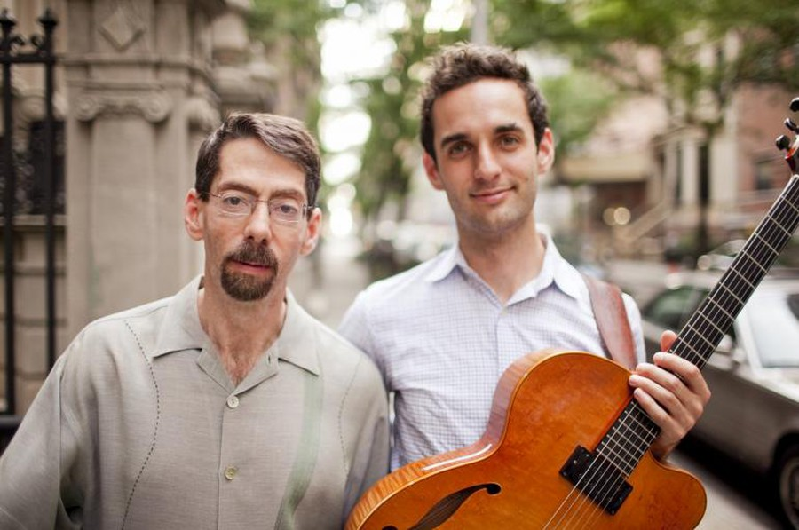 """Guirarist Julian Lage  and pianist Fred Hersch opened the """"Jazz at the Logan"""" series on October 18th."""