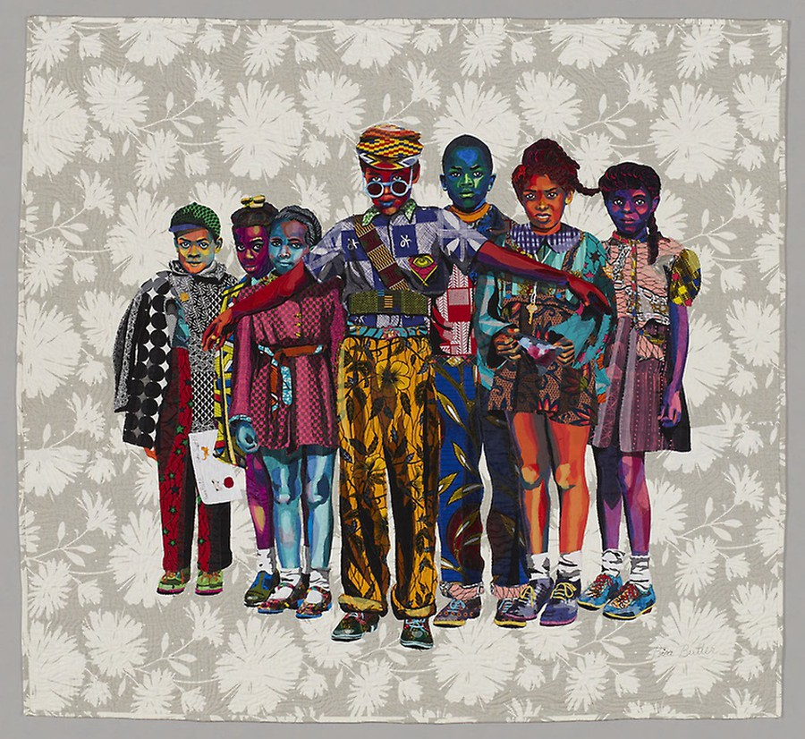 """The Safety Patrol"" by Bisa Butler is one of the Art Institute's newest acquisitions."