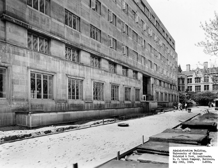 The old Administration Building, circa 1948