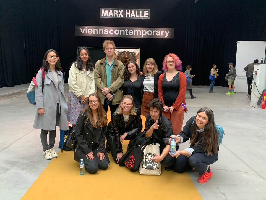 Ten graduate and undergraduate students were recently sent to an art fair in Vienna to make an acquisition for the Smart Museum.