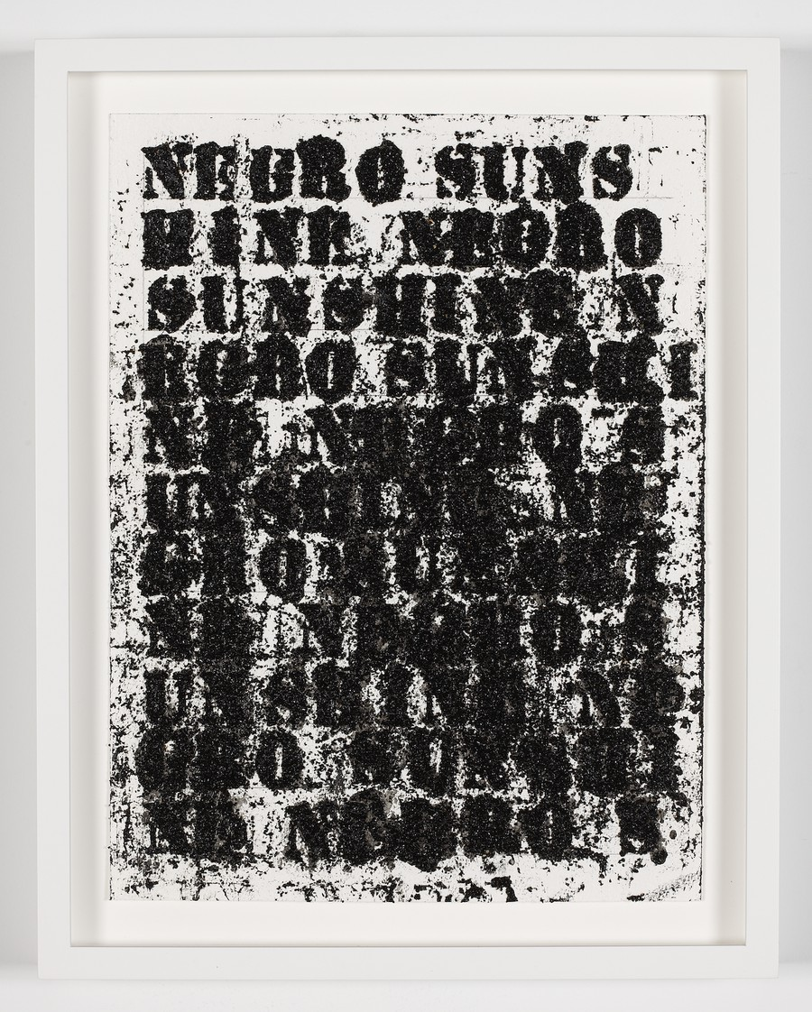 Glenn Ligon's text-based art is among the works on view at Stony Island Arts Bank.