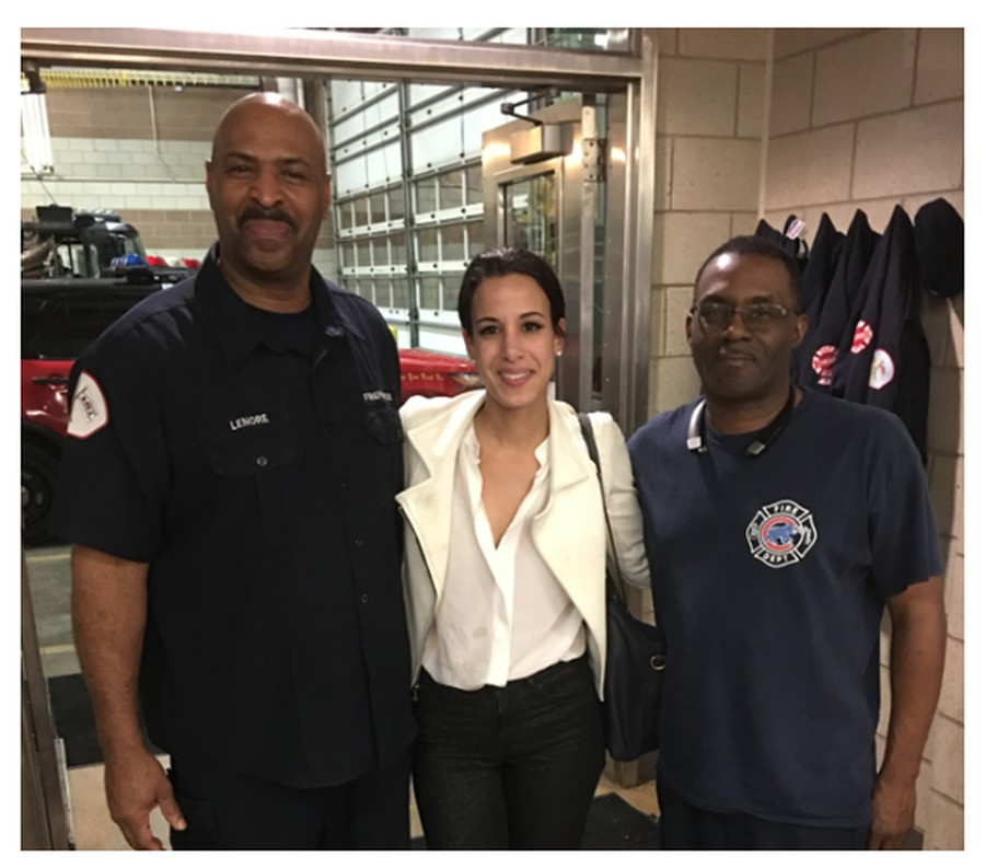 Sarah Gad at the Beverly Fire Department