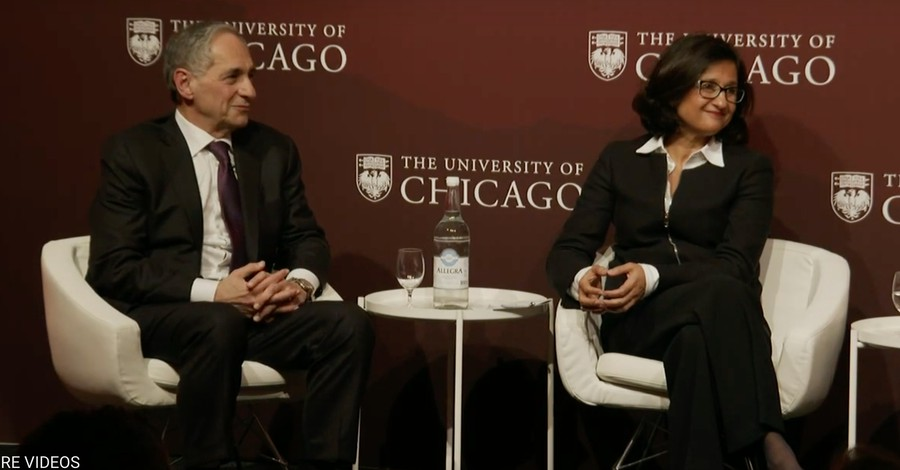 President Zimmer on a panel in Davos, Switzerland, alongside Minouche Shafik, director of the London School of Economics and Political Science.
