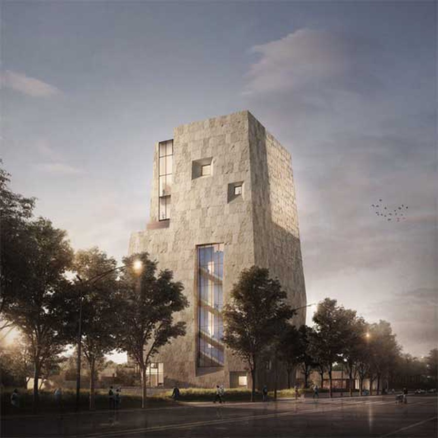 A digital rendering of the proposed plan for the Obama Presidential Center (OPC).