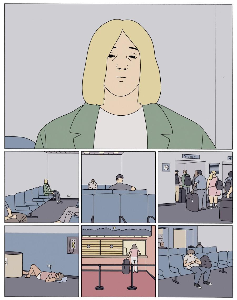 "A page from Drnaso's graphic novel ""Sabrina."""