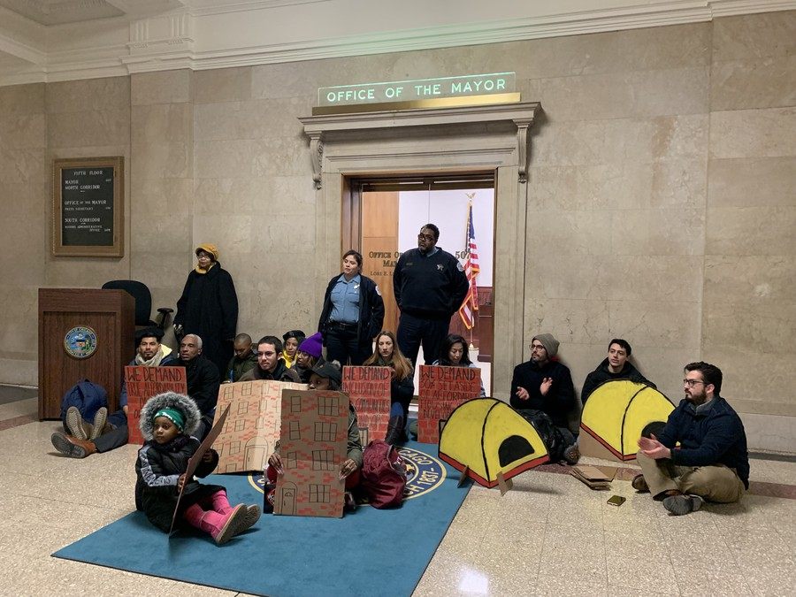 Activists sit in at Mayor's Office for OPC CBA