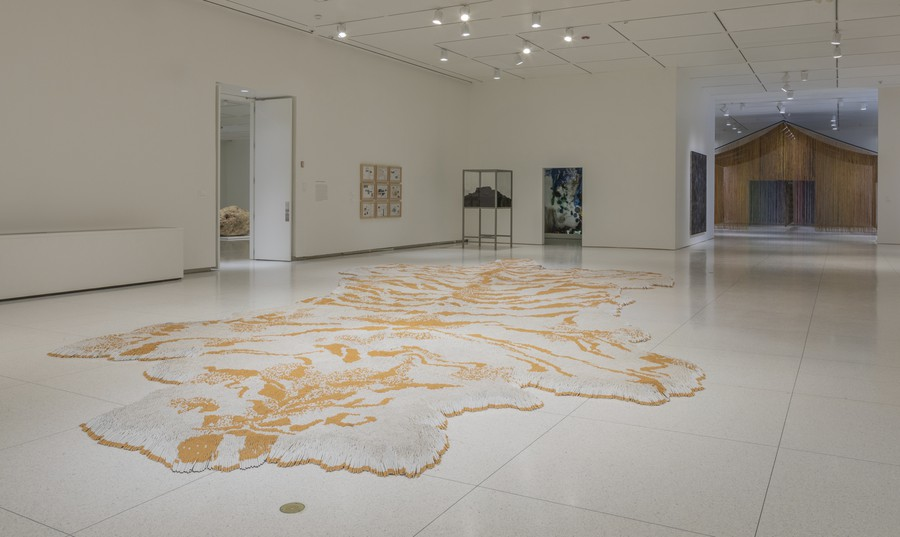 """Xu Bing's remarkable """"1st Class"""" installation is made out entirely of 500,000 cigarette butts."""