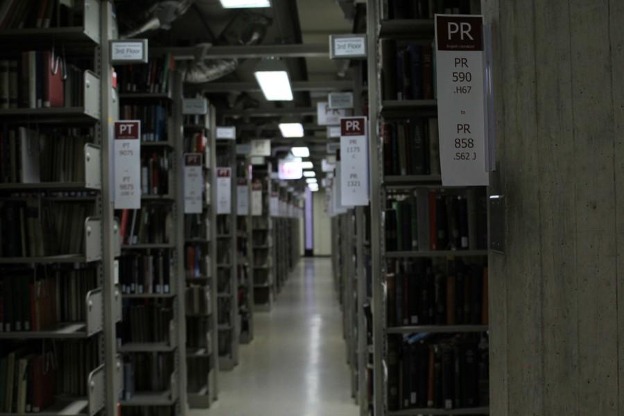 Regenstein library stacks.