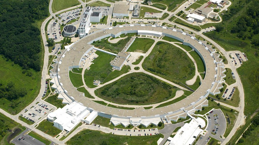 An aerial view of part of Argonne National Laboratory.