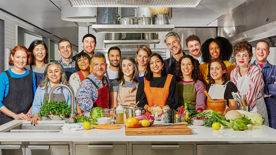 The ineffable, wholesome Bon Appétit Test Kitchen crew, pre-isolation.